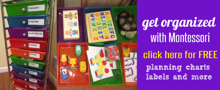 FREE Preschool Montessori Planner and Labels
