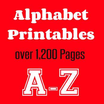 Alphabet Printables A-Z HappyandBlessedHome.com