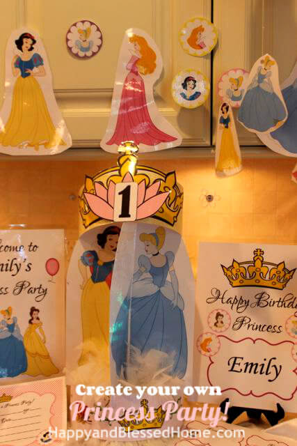 Create Your Own Princess Birthday Party FREE printables 5 HappyandBlessedHome.com.jpg