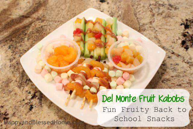 Fun Fruity Back to School Del Monte Snacks HappyandBlessedHome.com