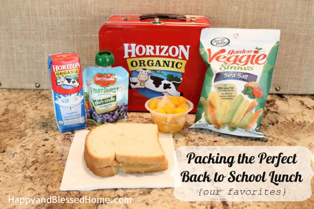 Packing the Prefct Back to School Lunch HappyandBlessedHome.com