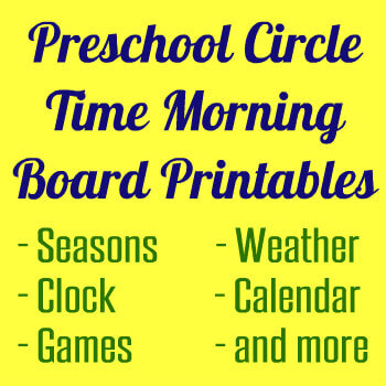 Preschool Circle Time Morning Board Printables HappyandBlessedHome.com