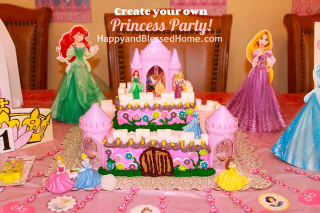 Princess Birthday Party Castle Cake