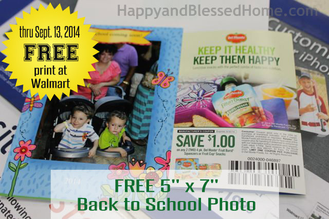 Star FREE 5 x 7 Back to School Photo at Walmart August 2014