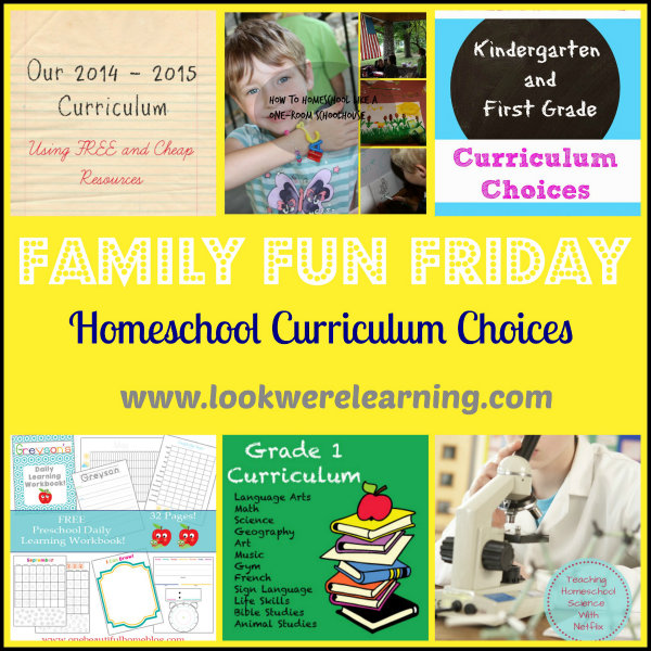 600 Homeschool Curriculum Choices - Family Fun Friday