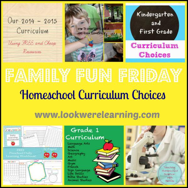 600 Homeschool Curriculum Choices - Family Fun Friday