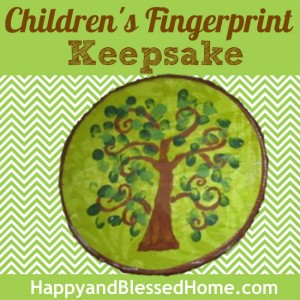 Childrens Fingerprint Keepsake HappyandBlessedHome.com