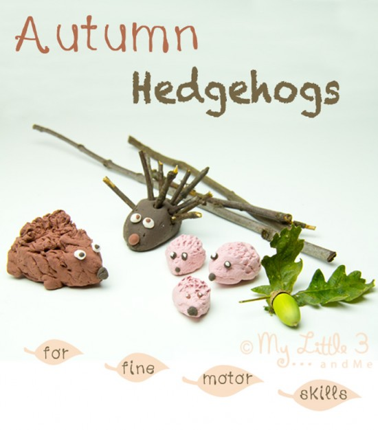 Autumn-Hedgehogs-for-Fine-Motor-Skills