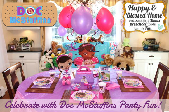 Celebrate with Doc McStuffins Party Fun HappyandBlessedHome.com