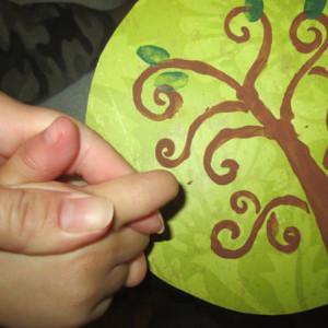 Childrens Fingerprint Keepsake Tree with Fingerprint Leaves Get Fingerprints HappyandBlessedHome.com