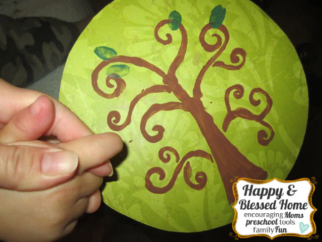 Childrens Fingerprint Keepsake Tree with Fingerprint Leaves Get Fingerprints HappyandBlessedHome.com