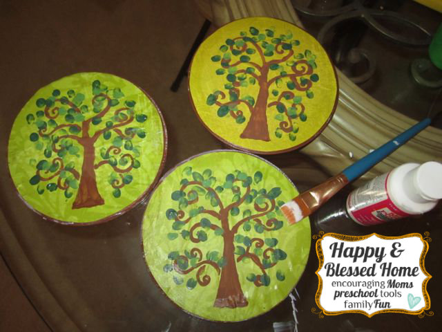 Childrens Fingerprint Keepsake Tree with Fingerprint Leaves Seal HappyandBlessedHome.com