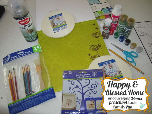 Childrens Fingerprint Keepsake Tree with Fingerprint Leaves Supplies HappyandBlessedHome.com