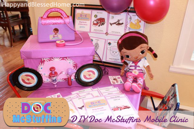 DIY Doc McStuffins Mobile Clinic Free Printable HappyandBlessedHome.com