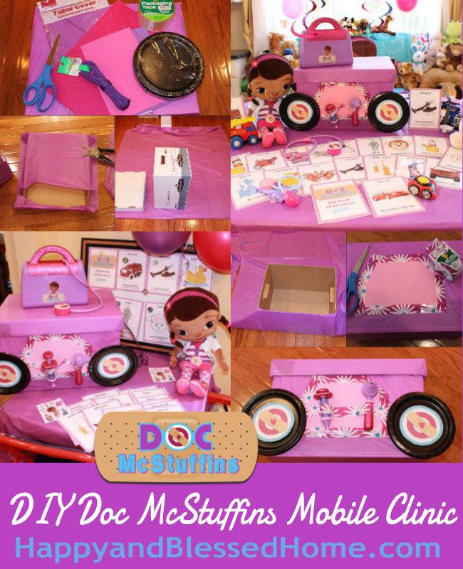 DIY Doc McStuffins Mobile Clinic HappyandBlessedHome.com
