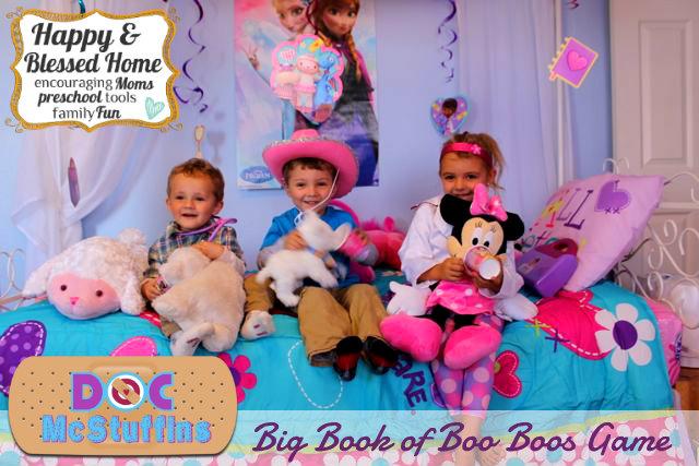 Doc McStuffins Big Book of Boo Boos Game HappyandBlessedHome.com