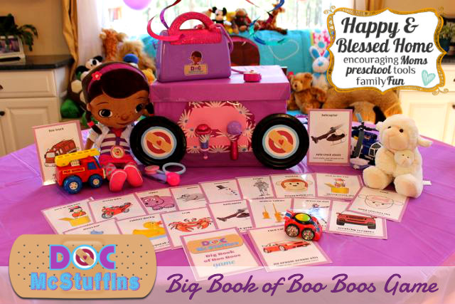Doc McStuffins Big Book of Boo Boos Game with Mobile Clinic HappyandBlessedHome.com