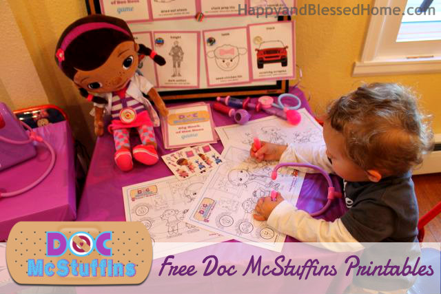 Doc McStuffins Birthday Party Free Printables HappyandBlessedHome.com