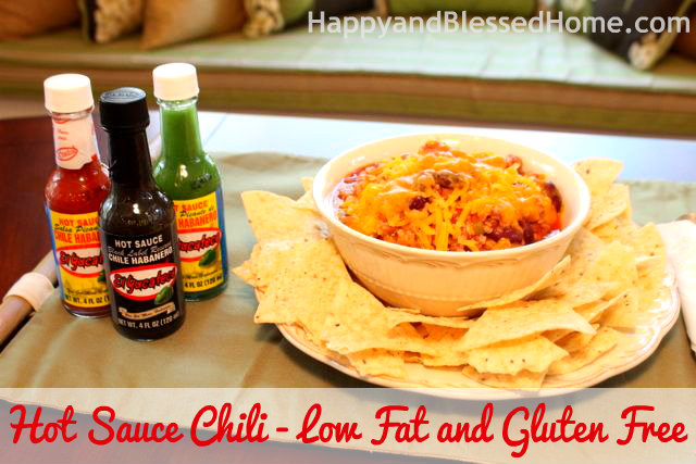 Hot Sauce Chili - Low Fat and Gluten Free HappyandBlessedHome.com