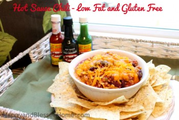 Hot Sauce Chili - Low Fat and Gluten Free on Tray HappyandBlessedHome.com