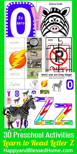 Learn to Read Preschool Alphabet Letter Z