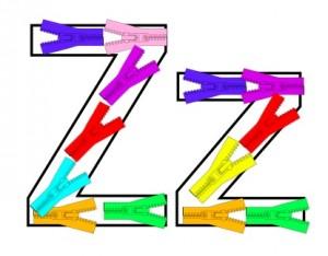 Letter Z Zipper