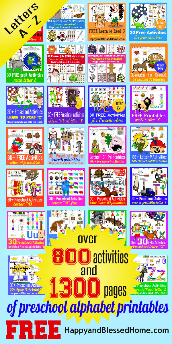1300+ Pages Alphabet Printable Letters And Activities FREE