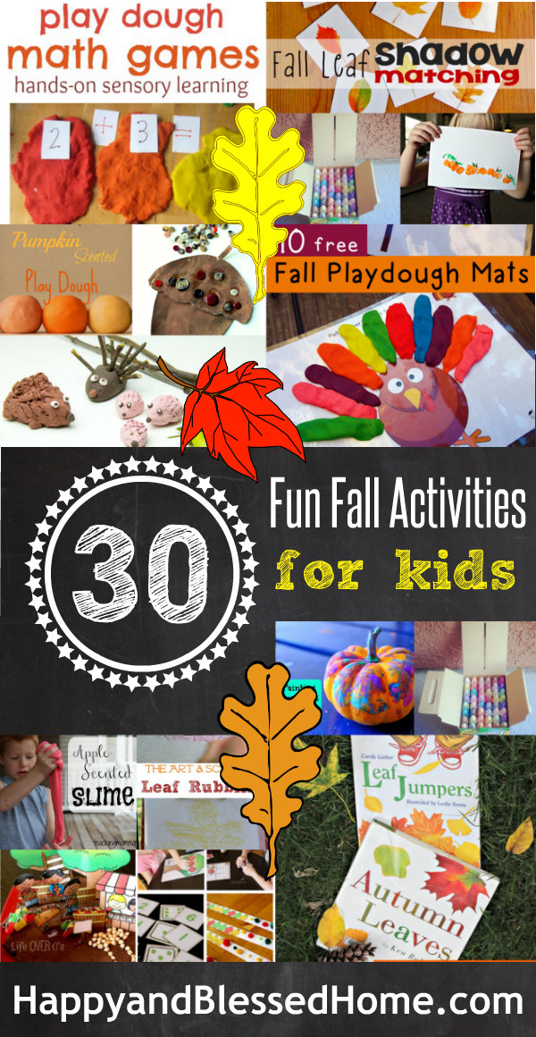 Over 30 Fun Fall Activities for Kids HappyandBlessedHome.com