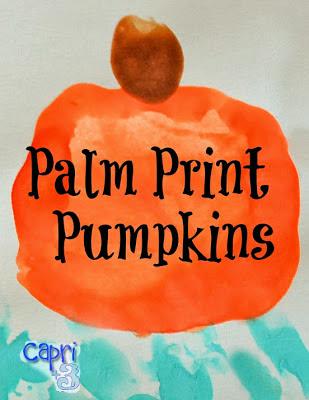 Palm Print Pumpkins