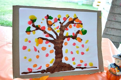 fall-decor-with-kid-made-art