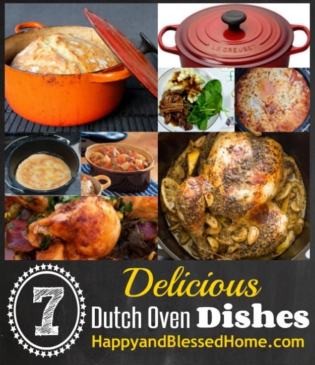 7 Delicious Dutch Oven Recipes HappyandBlessedHome.com