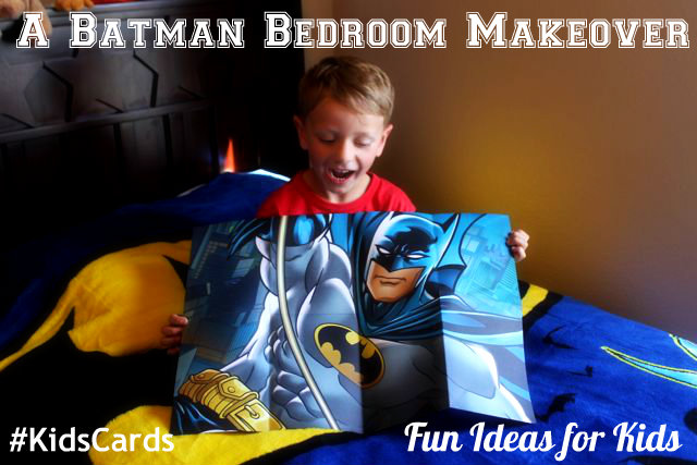 A Batman Bedroom Makeover Hallmark Kids Cards HappyandBlessedHome.com