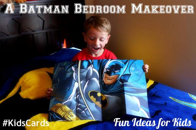 A Batman Bedroom Makeover Hallmark Kids Cards HappyandBlessedHome.com