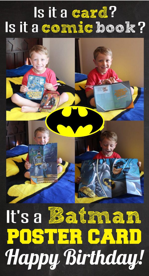 Batman Hallmark Kid Poster Card Happy Birthday Card HappyandBlessedHome.com