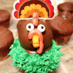 Cutest Thanksgiving Turkey Cupcake Ever - with OREO Cookie Balls Recipe and Step-By-Step Tutorial