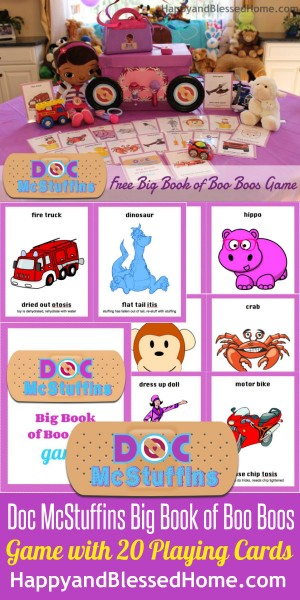 Doc McStuffins Big Book of Boo Boos Game FREE Printable HappyandBlessedHome.com