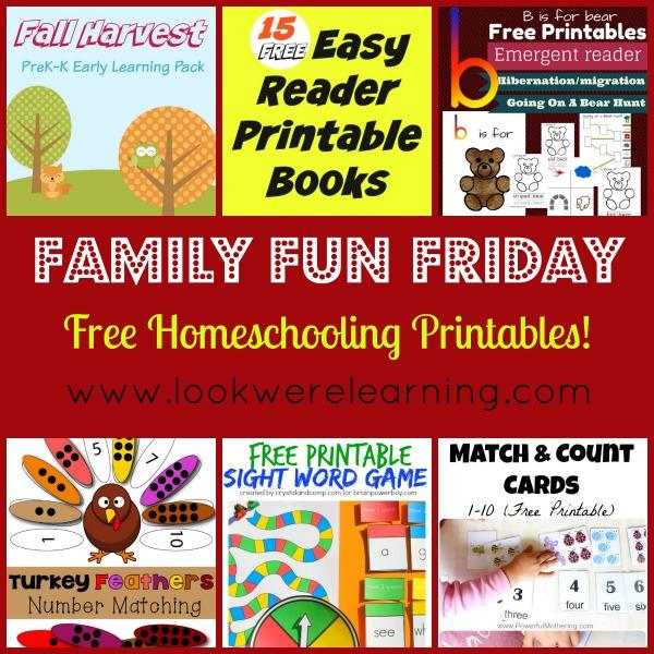 Free Homeschooling Printables