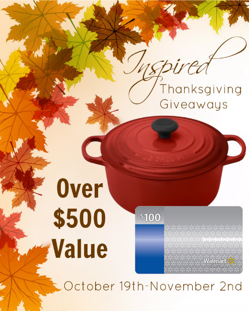 Inspired Thanksgiving Giveaway $500 in Kitchen Gear HappyandBlessedHome.com