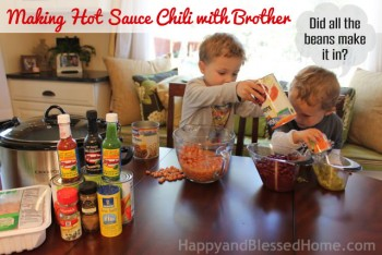 Making Hot Sauce Chili - Low Fat and Gluten Free with Brother HappyandBlessedHome.com