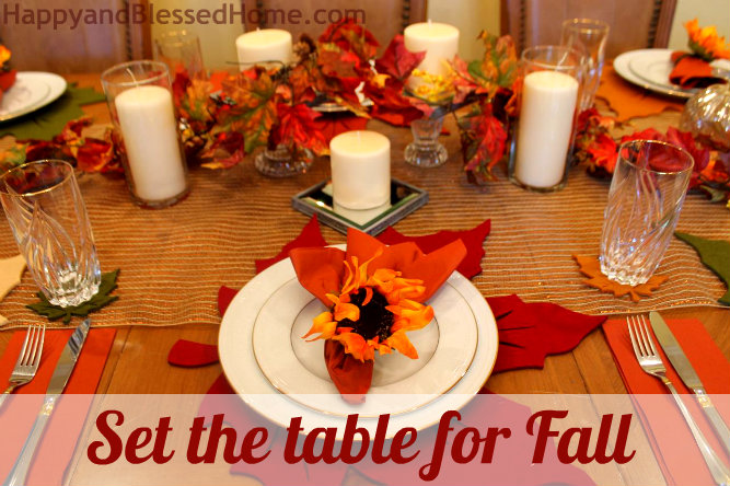 Fall Table Setting for 8 for less than $85 & Fall Table Setting Seat 8 for Less than $85