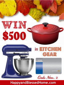 WIN 500 in Kitchen Gear HappyandBlessedHome.com