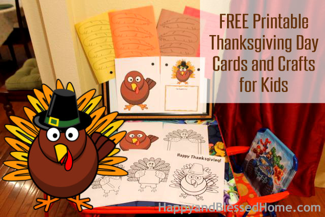 photo relating to Printable Thanksgiving Cards named Free of charge Printable Thanksgiving Working day Playing cards and Crafts for Little ones