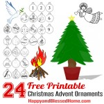 FREE Advent Calendar and Advent Christmas Ornaments