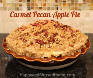 300 How to Make Carmel Pecan Apple Pie Tutorial HappyandBlessedHome
