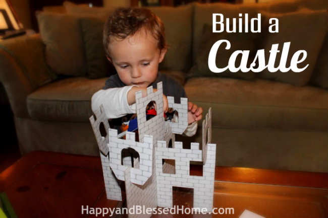 Build a Castle Preschool Activities with Castles, Catapults and FREE Shield Printables HappyandBlessedHome.com