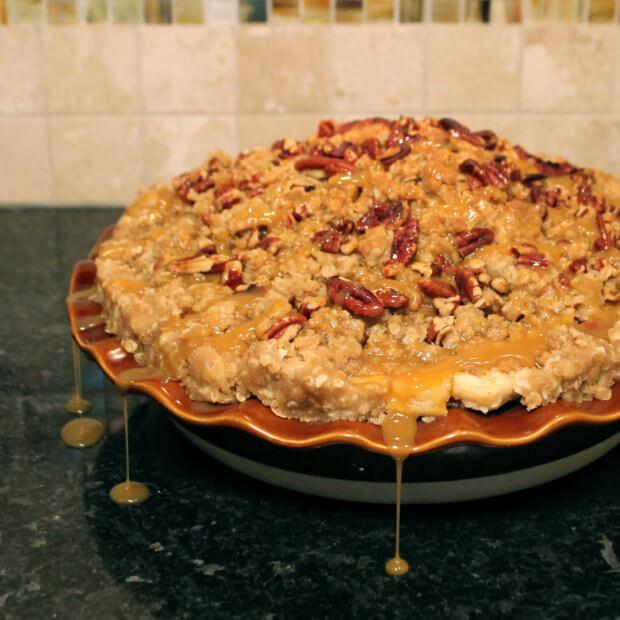 Carmel Pecan Apple Pie Photo Copyright 2014 HappyandBlessedHome.com