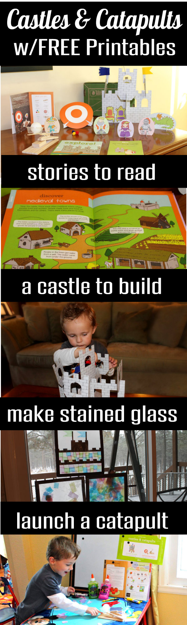Castles and Catapults Preschool Activities Games and Crafts HappyandBlessedHome.com