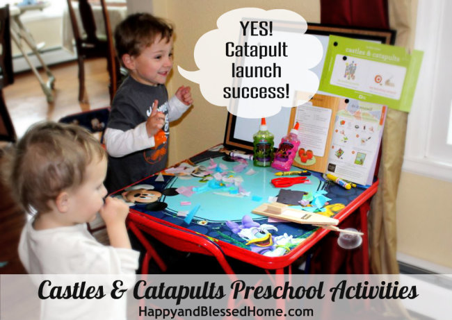 Castles and Catapults Preschool Activities HappyandBlessedHome.com