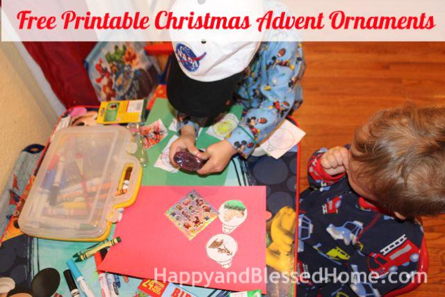 FREE Printable Christmas Advent Ornaments 2 HappyandBlessedHome.com