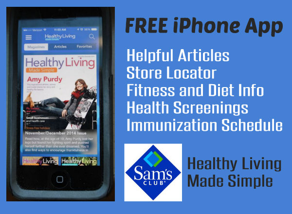 FREE iPhone App Sams Healthy Living Made Simple HappyandBlessedHome.com